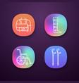 trauma treatment app icons set vector image vector image