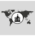 traveling russia monument design graphic vector image
