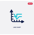 two color line chart icon from customer service vector image vector image