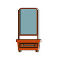 vanity furniture icon image vector image
