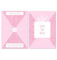 wedding invitation card with pink juniper vector image vector image