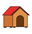 wooden house pet on white background vector image