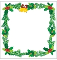 Christmas Ornaments Bells Frame Green vector image