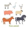 Farm Animals Set Stickers for Children vector image