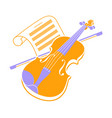 violin icon and music books 2 vector image