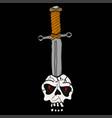 sword in the skull vector image