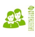 Women Icon With Free Bonus vector image