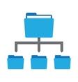 network folder icon vector image