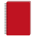 Red notebook vector image