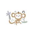 a funny dancing monkey vector image