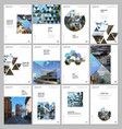 a4 brochure layout covers design template vector image