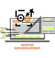 adaptive web development vector image vector image