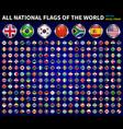 all national flags world circle metal vector image vector image