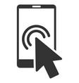 arrow double click smartphone flat icon vector image vector image
