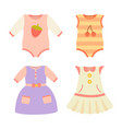 baby clothes collection dress vector image vector image