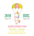 baby shower or arrival card - unicorn girl
