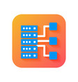 big data icon storage icon database icon modern vector image