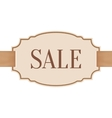 Big sale banner with golden ribbon vector image vector image