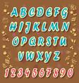 blue watercolor alphabet vector image vector image