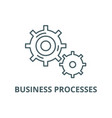 business processes line icon business vector image vector image