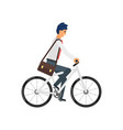 businessman hurrying to the job vector image vector image