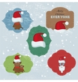 Christmas Set with Notes Stickers Labels with vector image vector image