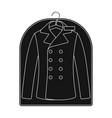 clean clothes in the cover dry cleaning single vector image vector image