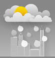 cloud and rain on dark background heavy rain vector image vector image