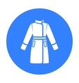 Coat icon of for web and vector image vector image