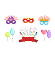 colorful party symbols set celebration birthday vector image vector image