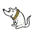 comic cartoon happy dog in big collar vector image vector image