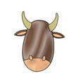 cute cow manger character image vector image vector image