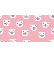 cute pigs seamless pattern on pink vector image vector image