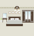 design double bedroom vector image vector image
