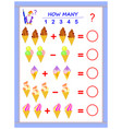 educational page for children on addition and vector image vector image