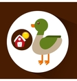 farm countryside animal duck design vector image vector image