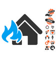 Fire damage icon with lovely bonus