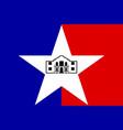 flag san antonio in texas usa vector image vector image
