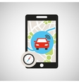 gps service design vector image vector image