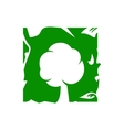 Green tree sign vector image vector image
