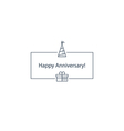 Happy anniversary celebration card vector image
