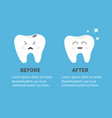 healthy smiling tooth icon shining star crying vector image vector image