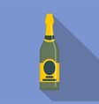 holiday champagne icon flat style vector image vector image