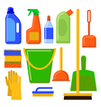 House cleaning tools Cleaning elements Home vector image vector image