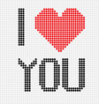I love you dots vector image