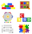 icons educational toys for children vector image