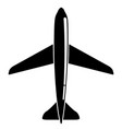 isolated airplane icon vector image