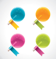 lollipops with ribbons vector image vector image