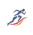 marathon run abstract logo icon vector image