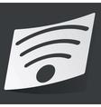Monochrome Wi-Fi sticker vector image vector image